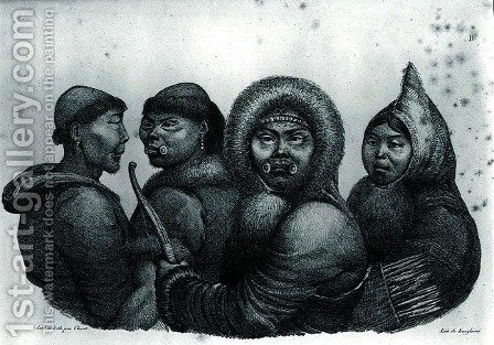 Inhabitants of the Gulf of Kotzebue, from 'Voyage Pittoresque autour du Monde' by (After) Choris, Ludwig (Louis) - Reproduction Oil Painting