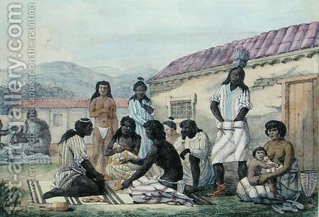 A Game played by the natives of California, from 'Voyage Pittoresque Autour du Monde' 1822 by (After) Choris, Ludwig (Louis) - Reproduction Oil Painting