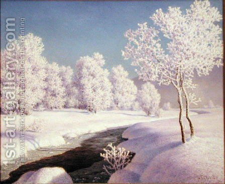 Winter Morning - Engadine by Ivan Fedorovich Choultse - Reproduction Oil Painting