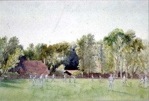 Famous paintings of Sport and Games: The Cricket Match