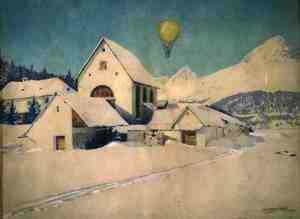 Landscape with an Air Balloon, 1910