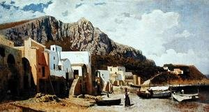 Famous paintings of Harbors & Ports: Capri, 1866