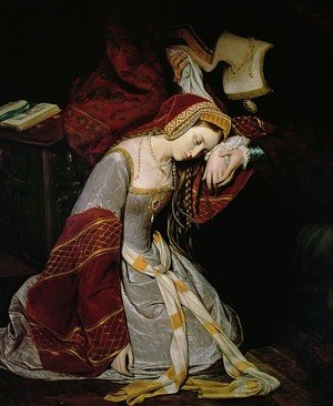 Anne Boleyn (1507-36) in the Tower (detail) 1835