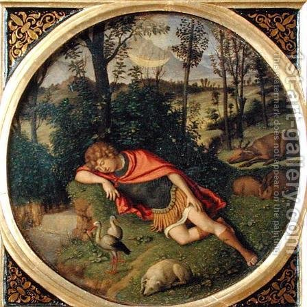Endymion Sleeping by Giovanni Battista Cima da Conegliano - Reproduction Oil Painting