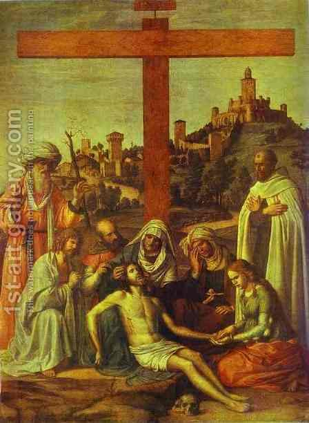 The Deposition by Giovanni Battista Cima da Conegliano - Reproduction Oil Painting