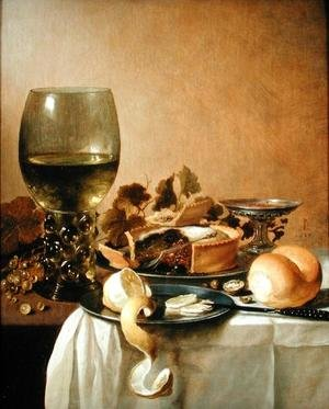 Famous paintings of Desserts: Still Life with Giant Roemer, 1647