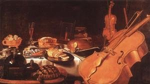 Famous paintings of Desserts: Still Life with Musical Instruments, 1623