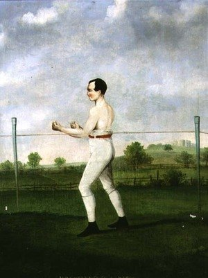 Famous paintings of Sport and Games: Job Cobley; The Elastic Pot Boy