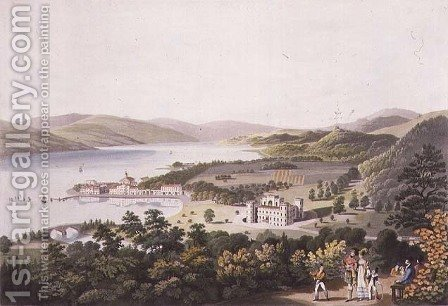 The Town of Inverary, 1824 by I. Clark - Reproduction Oil Painting