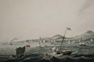 Famous paintings of Harbors & Ports: The Town of Dundee, 1824