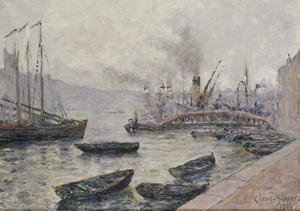 Famous paintings of Harbors & Ports: London Bridge, 1904