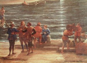 Famous paintings of Harbors & Ports: Ulysses Returning Chryseis to her Father (detail)