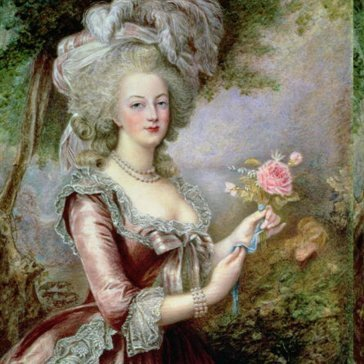 Oil painting reproductions - Trees - Louise Campbell Clay: Marie Antoinette (1755-93) after Vigee-Lebrun