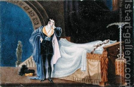 The Atheist viewing the dead body of his Wife by Alfred B. Clayton - Reproduction Oil Painting