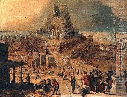 The building of the Tower of Babel by Hendrick van Cleve - Reproduction Oil Painting