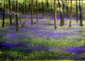 Realism painting reproductions: Bluebell Wood