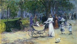 Reproduction oil paintings - Edward Clifford - Promenading