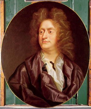 Famous paintings of Men: Portrait of Henry Purcell, 1695