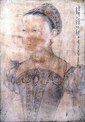Portrait of Mary Stuart, Queen of Scotland (1542-87) at the age of Nine, July 1552