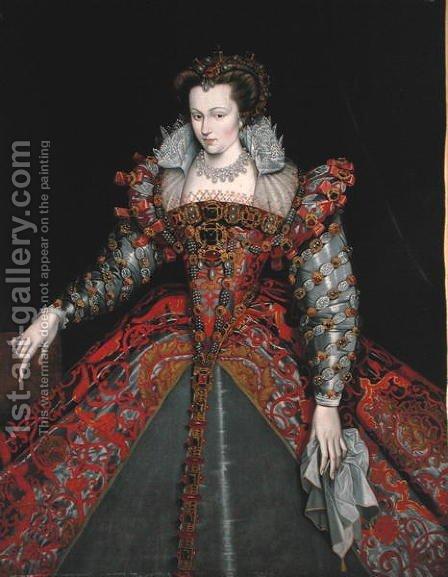 Portrait of Louise de Lorraine by (after) Clouet, Francois - Reproduction Oil Painting