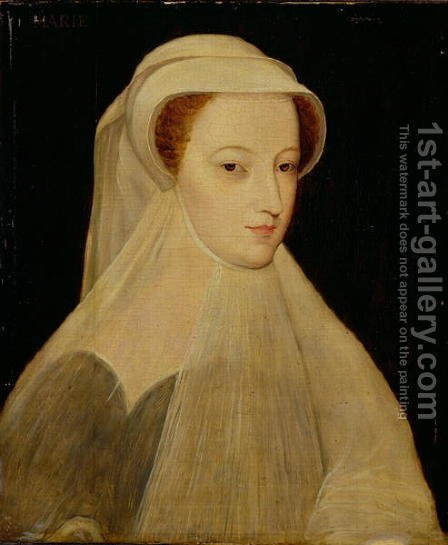 Mary, Queen of Scots in white mourning by (after) Clouet, Francois - Reproduction Oil Painting