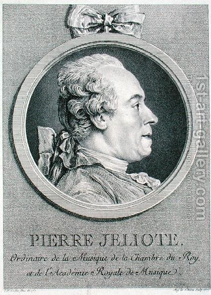 Pierre Jeliote (1713-97)  1771 by (after) Cochin, Charles Nicolas II - Reproduction Oil Painting