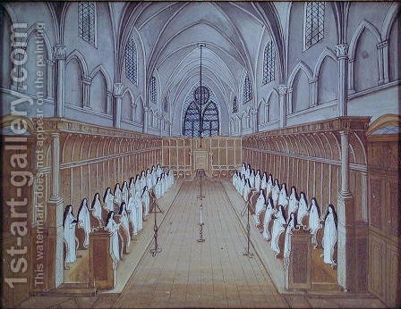 View of the Choir, from 'L'Abbaye de Port-Royal', c.1710 by (after) Cochin, Louise Madelaine - Reproduction Oil Painting