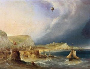 The First Balloon Crossing, 7th January 1785