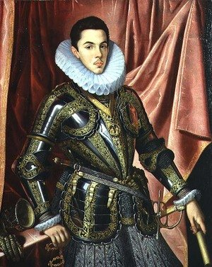 Famous paintings of Knights & Warriors: Portrait of a Young Man in Armour