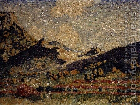 Study for the Small Maures Mountains, 1909 by Henri Edmond Cross - Reproduction Oil Painting