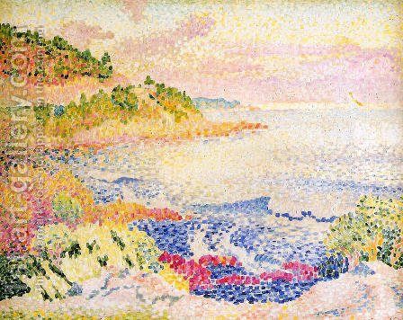 The Maures Mountains, 1906-07 by Henri Edmond Cross - Reproduction Oil Painting