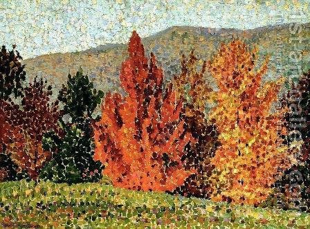 Autumn Landscape, c.1903 by Henri Edmond Cross - Reproduction Oil Painting