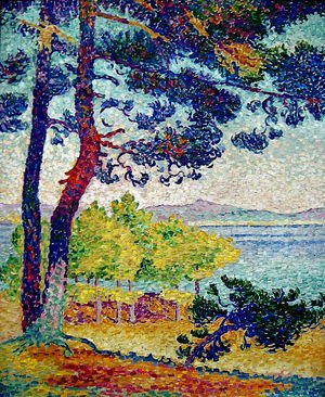 Pointillism painting reproductions: Afternoon at Pardigon, Var, 1907