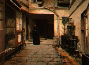 Reproduction oil paintings - Santiago Rusinol i Prats - The Pawn Brokers