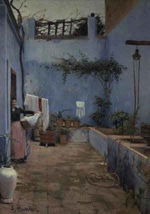 Reproduction oil paintings - Santiago Rusinol i Prats - Patio Interior