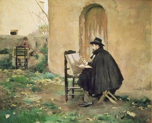 Reproduction oil paintings - Santiago Rusinol i Prats - Rusinol and Casas painting, 1890