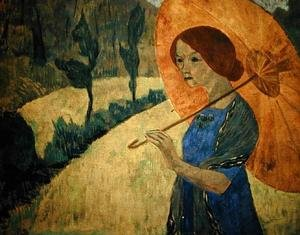 Nabis painting reproductions: Madame Serusier with a Parasol, 1912