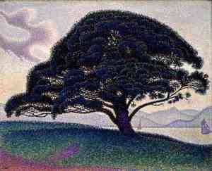 Pointillism painting reproductions: The Bonaventure Pine, 1893