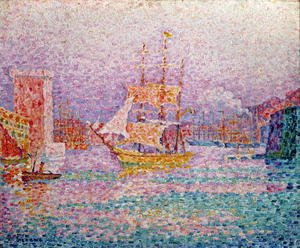 Pointillism painting reproductions: Harbour at Marseilles, c.1906