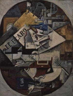 Futurism painting reproductions: Still life