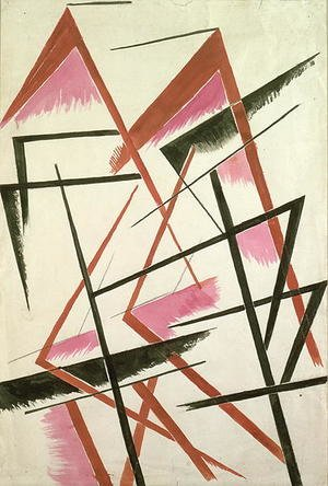 Futurism painting reproductions: Linear Construction, c.1921