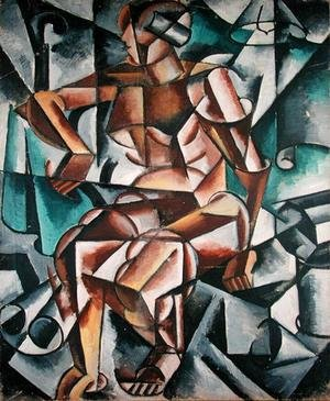 Futurism painting reproductions: Seated Figure, 1914-15