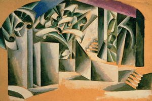 Futurism painting reproductions: Stage design for William Shakespeare's play 'Romeo and Juliet', 1920