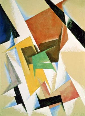 Futurism painting reproductions: Compostion, 1921