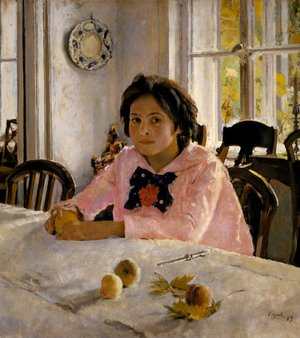 Famous paintings of Fruits: Girl with Peaches, 1887