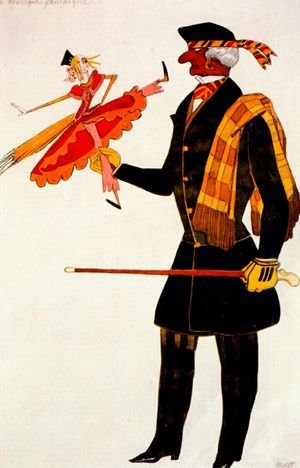 Art Deco painting reproductions: Costume for the Englishman, from La Boutique Fantastique, 1917