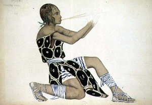 A Boetian Costume designed for Diaghilev's Ballets Russes, probably for 'Narcisse', 1911