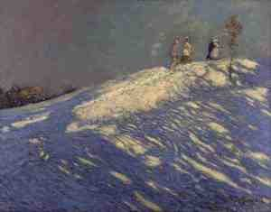 Group of Seven painting reproductions: Morning Shadows, 1912