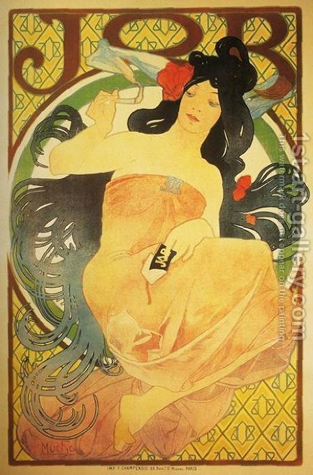 Job, 1898 by Alphonse Maria Mucha - Reproduction Oil Painting