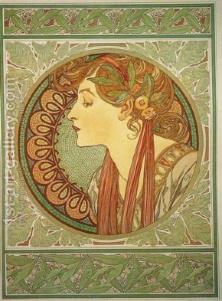 Laurel, 1901 by Alphonse Maria Mucha - Reproduction Oil Painting